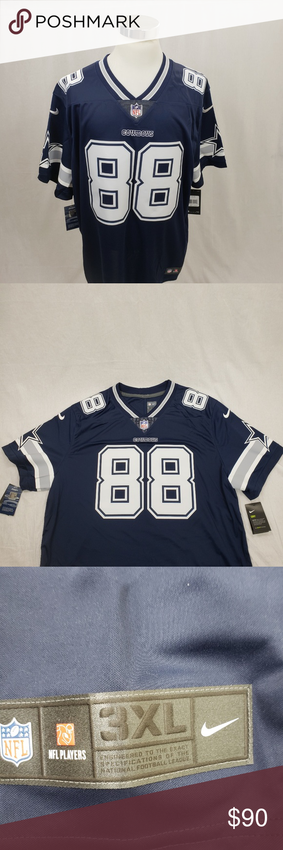 the best attitude e6f68 76ef2 Dallas Cowboys Dez Bryant Limited Jersey 3XL BRAND: Nike ...