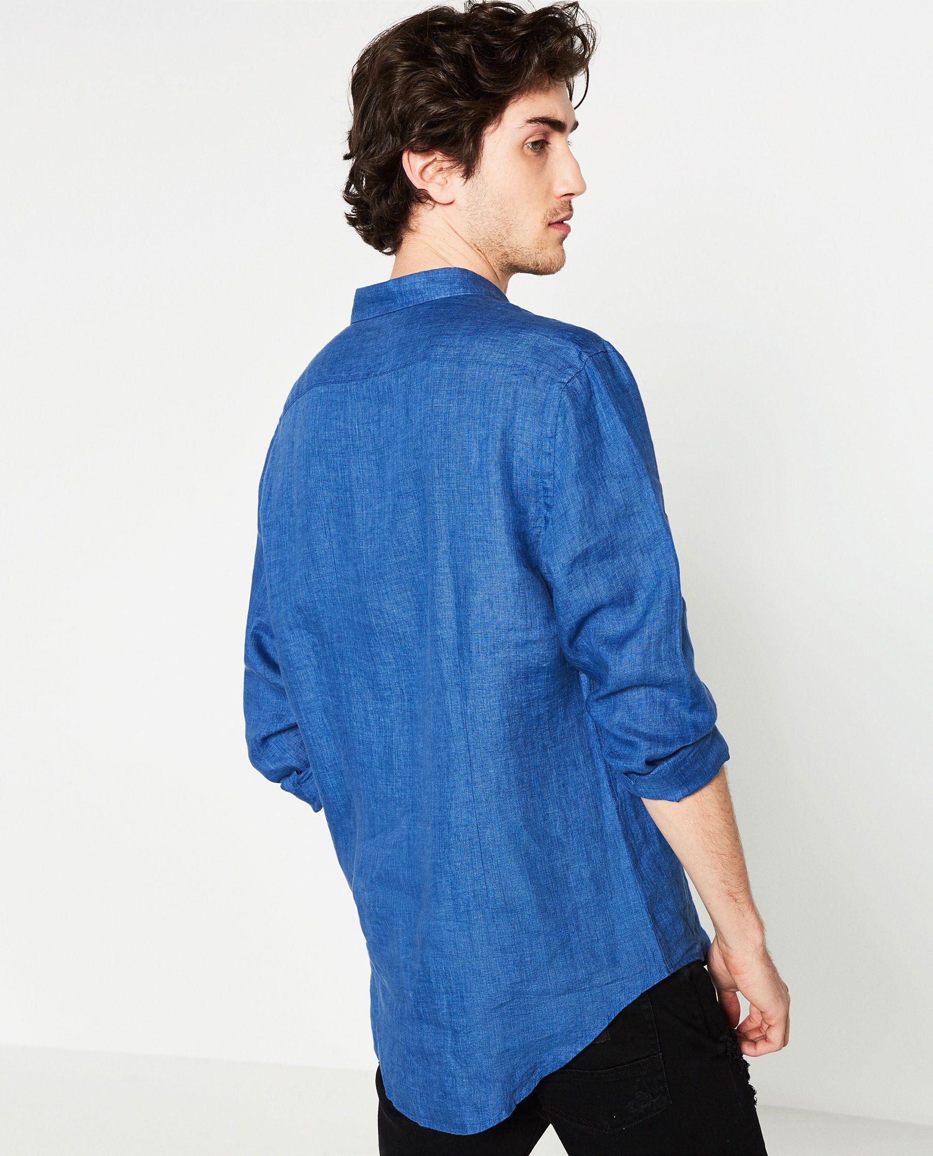 CAMISA LINO RAYAS | Camisas | Camisas, Hombres y Zara hombre