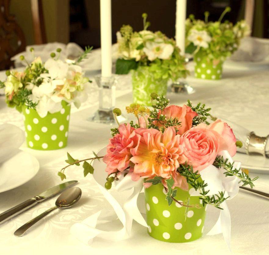 Centros de mesa con flores decoracion para boda pinterest mesas - Centro de mesa con flores ...