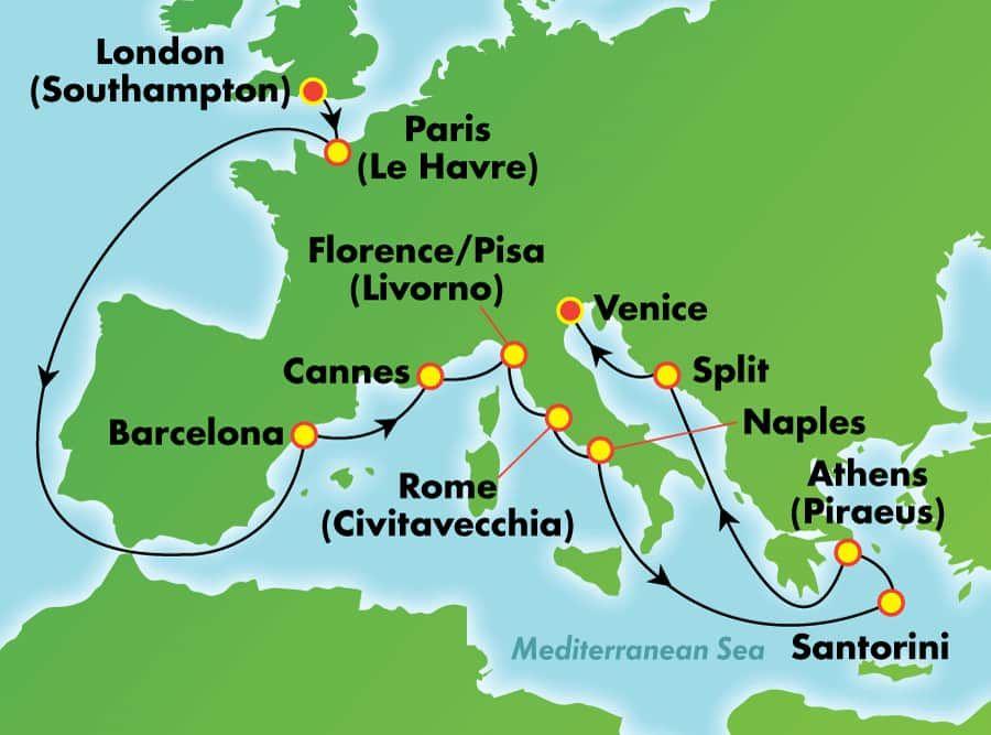 15 Day Greek Isles Italy France European Jewels From London Southampton Greek Isles Cruise European Cruises Greek Isles