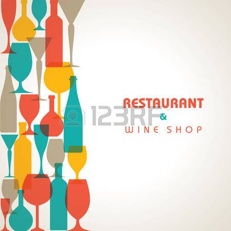 Dessin verre de vin abstract retro verre cocktail et - Dessin de verre ...