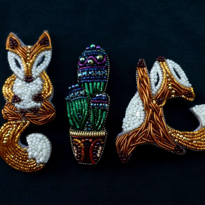 Yoga-Fox broosh ,Handmade Brooch, Accessories, Pin, Wedding Decor,  Costume Party, Brooch for jacket -   24 diy costume fox ideas