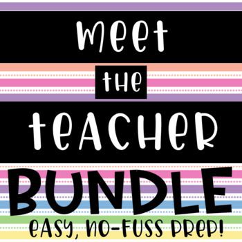 Meet the Teacher bundle   easy prep   open house   back to school - student sign in sheet