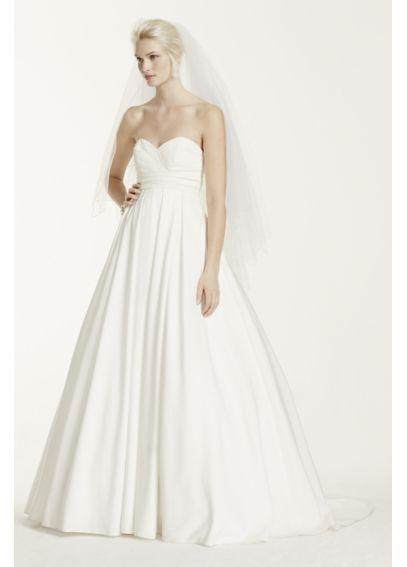Pleated Strapless Wedding Dress with Empire Waist David\'s Briday ...