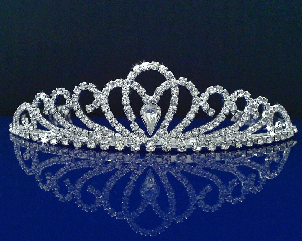 SparklyCrystal Rhinestone Bridal Wedding Prom Crystal Crown Tiara 24326 #crowntiara
