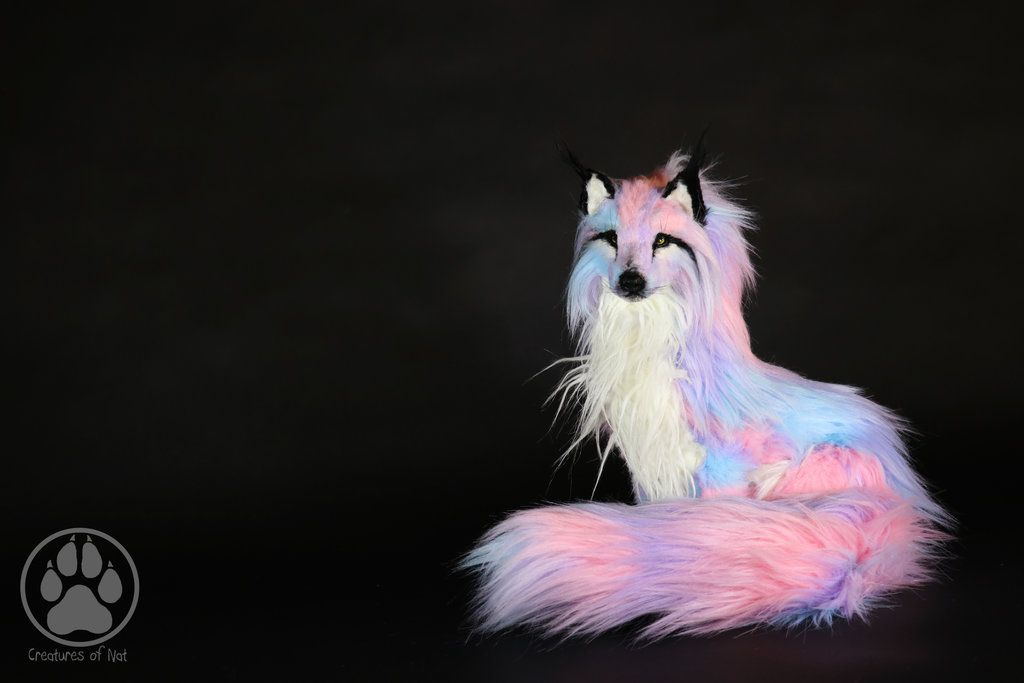 Sold Pastel Wolf Commission Poseable Artdoll Ooak By