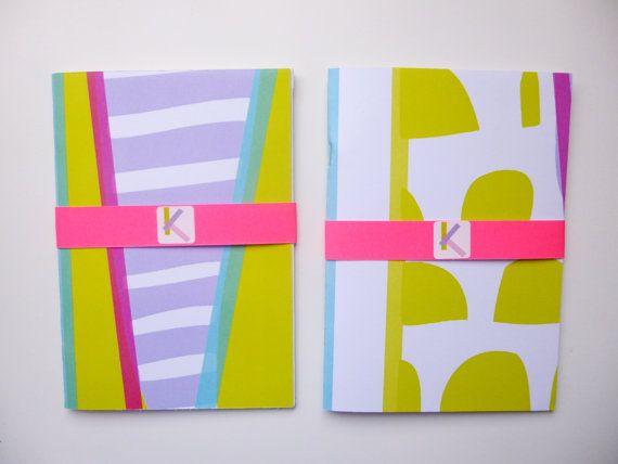 Kroma Neon Stripe/Circle Patterned A5 Scrap Sketch by Kromabykate, £6.00