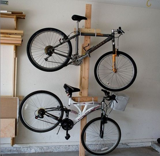 Bike Rack For Garage Get It To Saving Space Home Interiors Bike Rack Garage Garage Organization Bike Storage Garage
