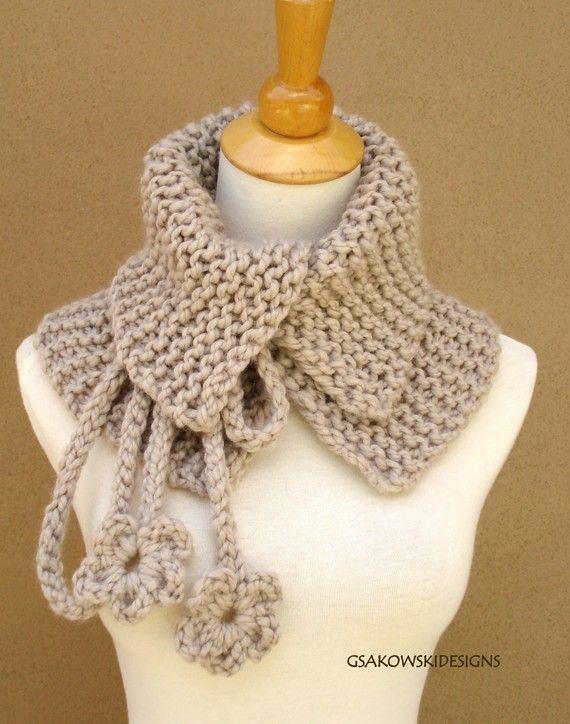 Josephine Cowl-Neck Warmer-Linen | Crochê & Trico | Pinterest ...