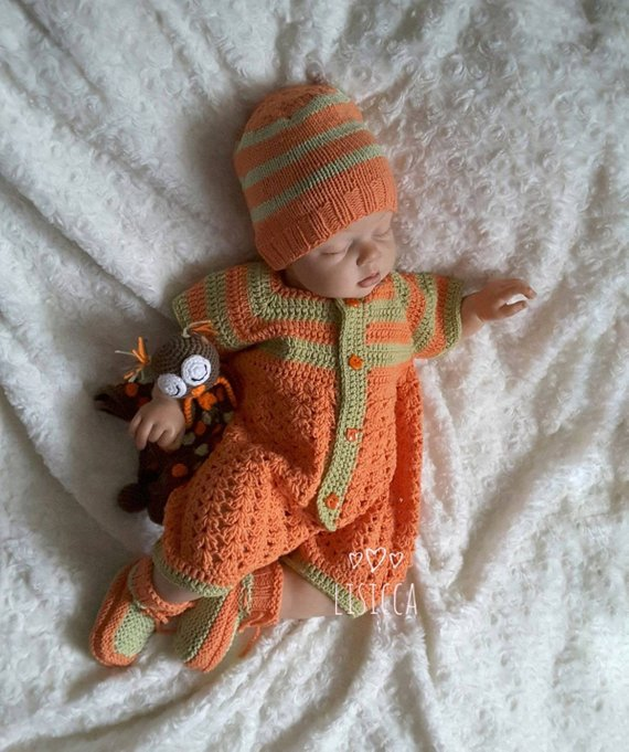 261c2755c Knitted baby clothes Baby boy girl coming home outfit Hand knitted ...