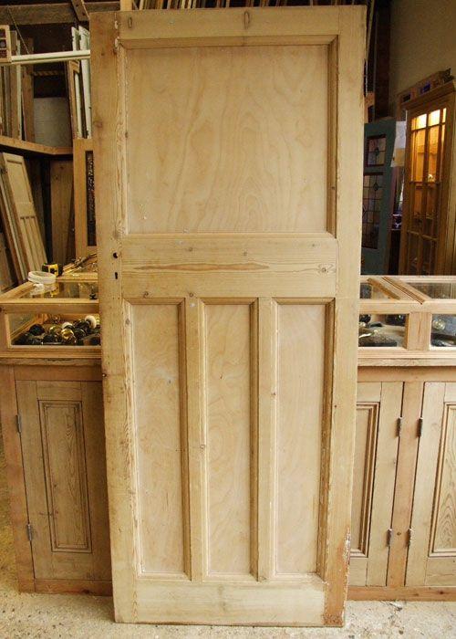 Reclaimed Pine Edwardian Internal Door Fancy London Flat