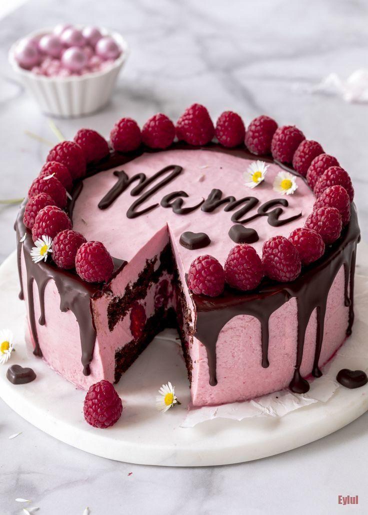 Rezept: Himbeermousse Torte mit Schokolade und Schriftzug zum Muttertag backen D... Cake Rezept: Himbeermousse Torte mit Schokolade und Schriftzug zum Muttertag backen D... Cake ,