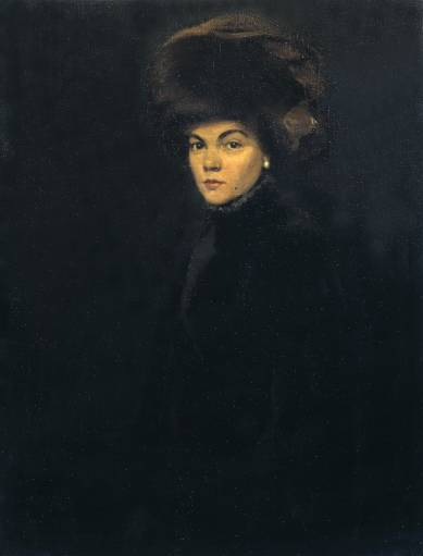 William Nicholson, Lady in Furs, Madame P. , 1907, oil on canvas
