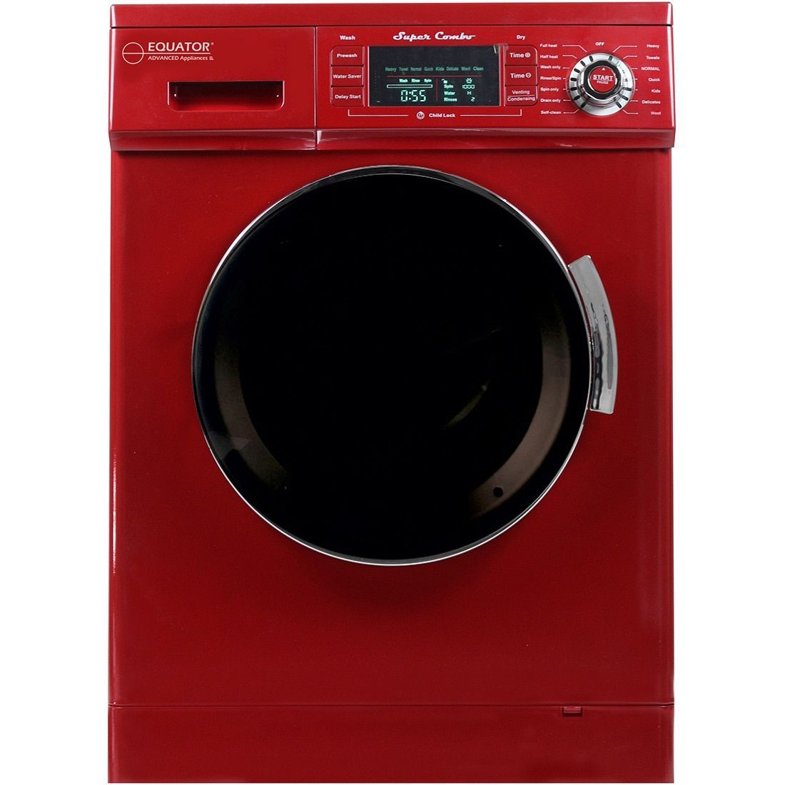 Equator 13 Lbs 1 57 Cu Ft Merlot Convertible Combo Washer Dryer With Optional Venting Condensing Drying Washer Dryer Combo Washer And Dryer Compact Washer