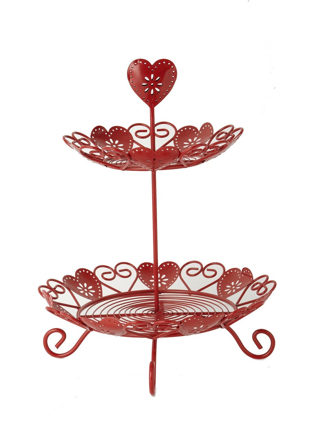 Red Wire Heart 2 Tier Cakestand £20 40th wedding
