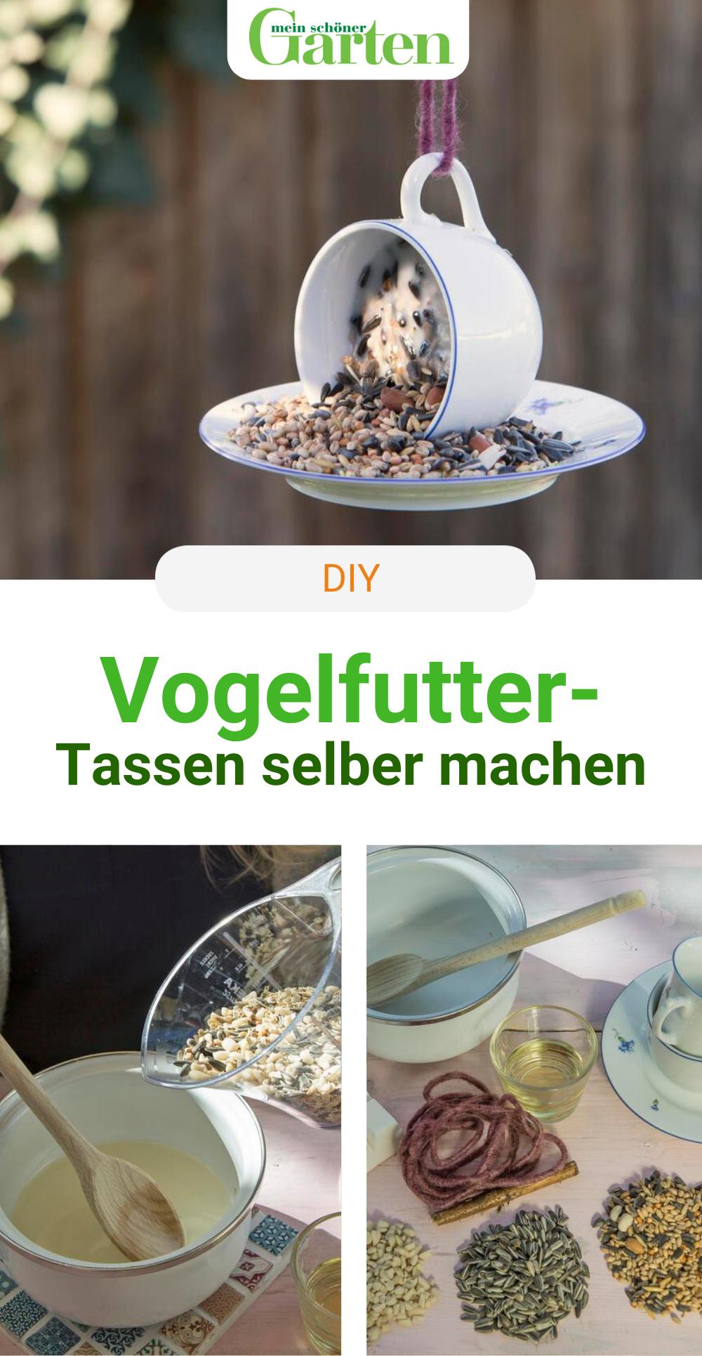 DIY-Idee: Vogelfuttertassen basteln