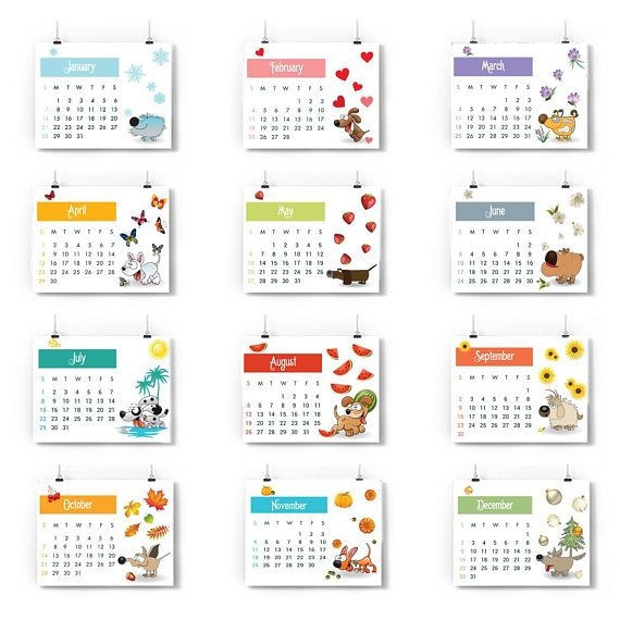 free printable 2018 yearly calendar