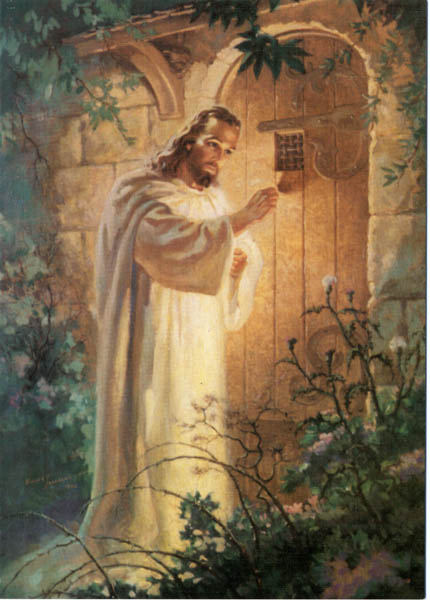 Jesus Knocking By American Painter Warner Sallman This