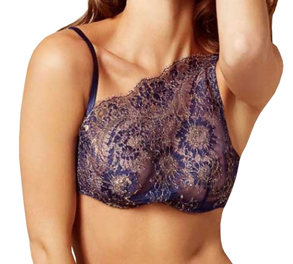 0e1a493a17 AGENT PROVOCATEUR SOIREE Kiera Lace Bra Blue Gold Size UK 36D BNWT  fashion   clothing  shoes  accessories  womensclothing  intimatessleep  ad (ebay link )