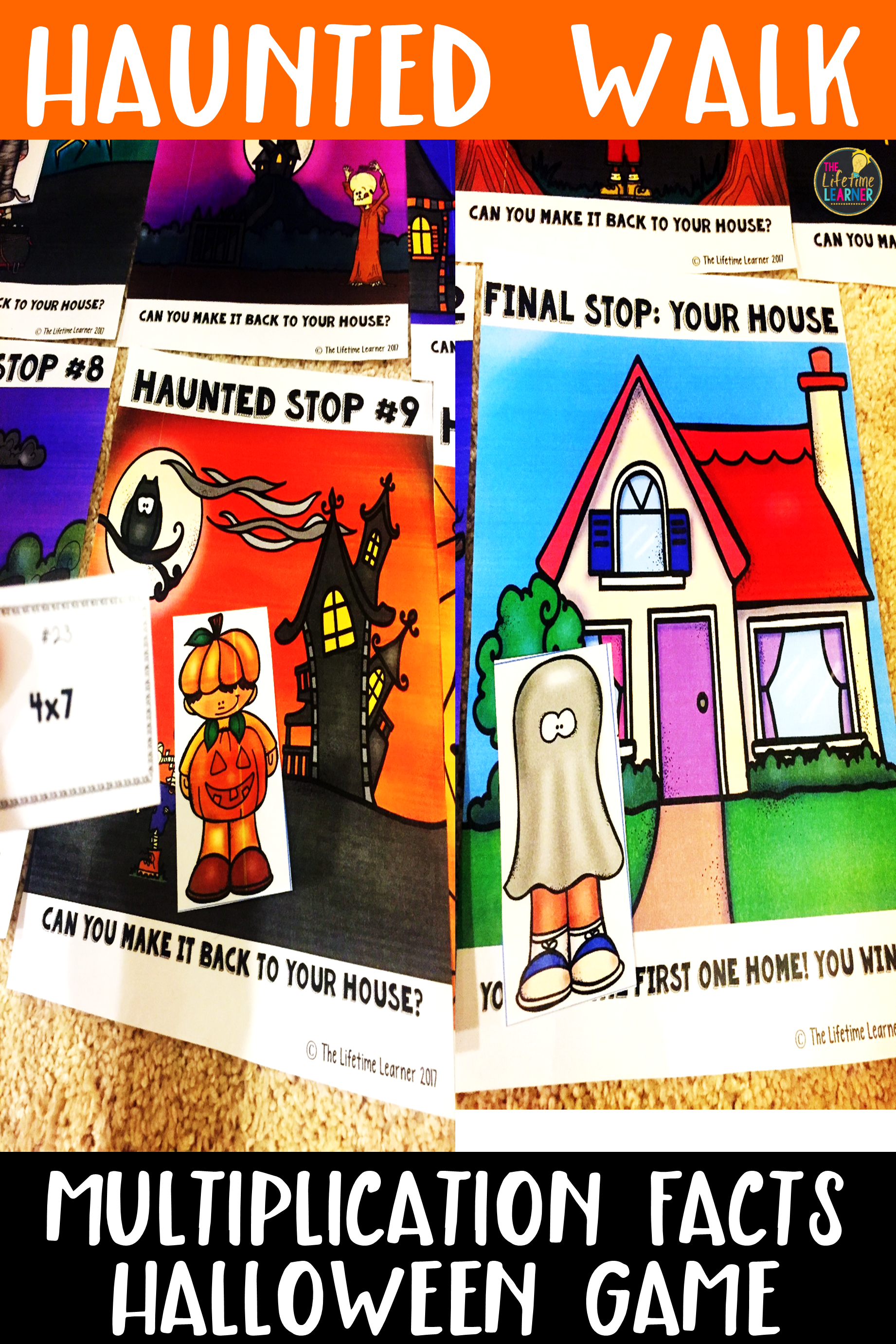 Multiplication Facts Halloween Game With Images