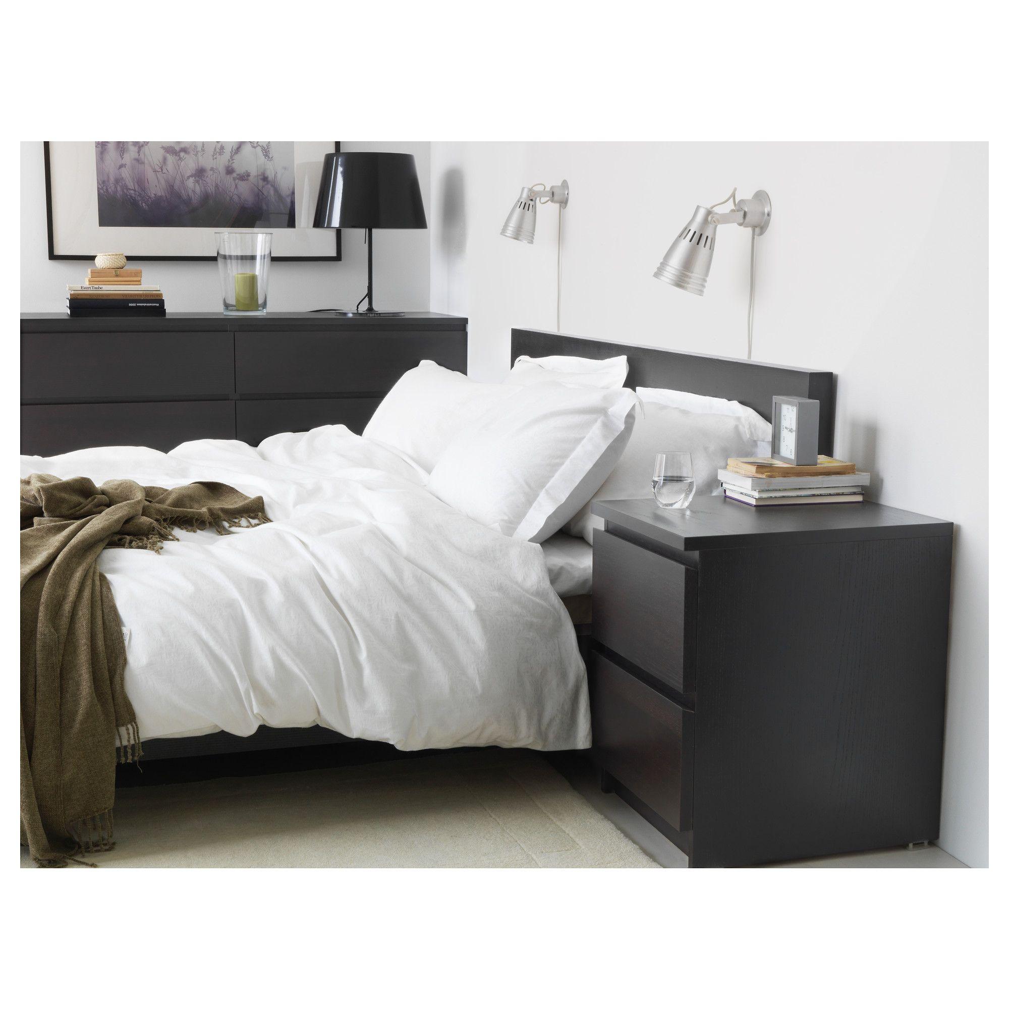 Malm Bed Frame High Black Brown Lonset Bedroom Pinterest