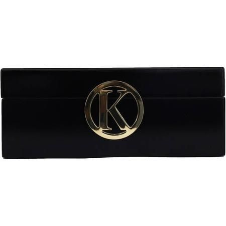 Gold Single Initial Jewelry Box Black Walmartcom ACCESSORIES