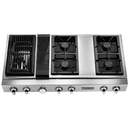 Range With Downdraft And Grille Cocinas Modulares Casas