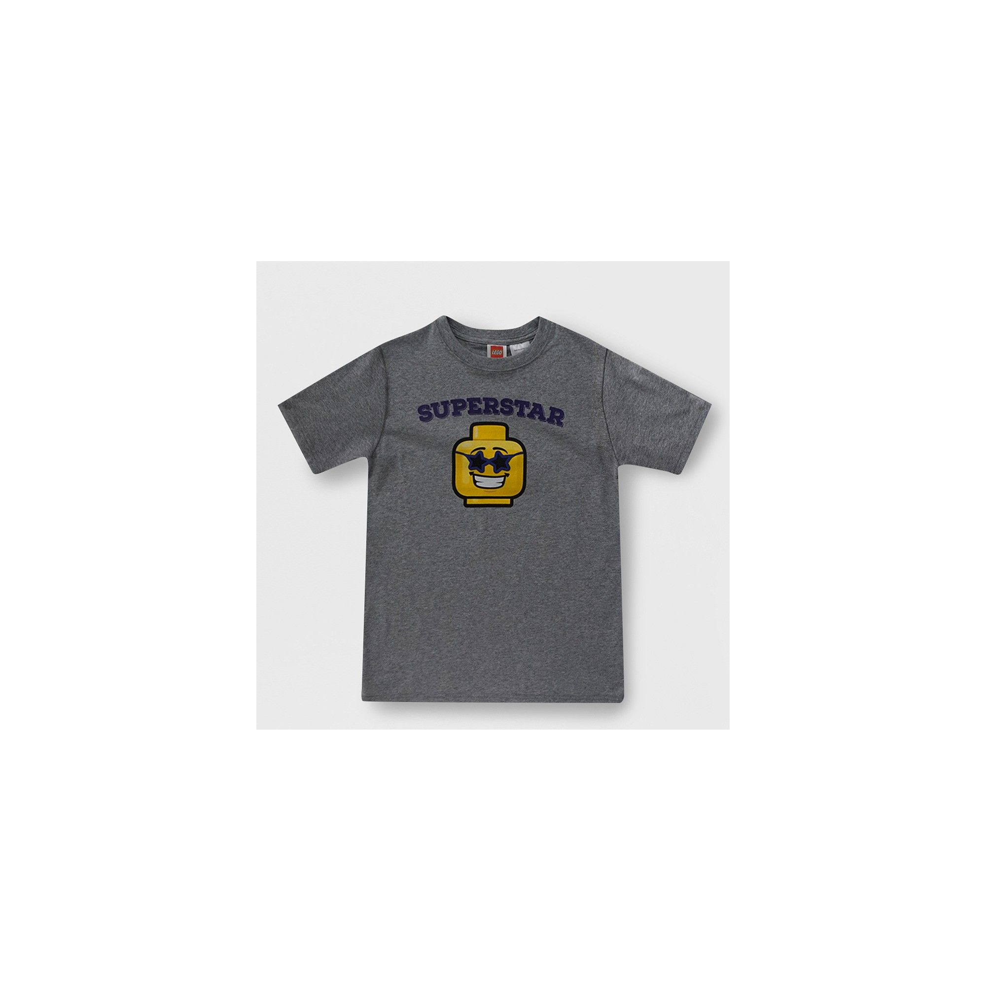 5cf355cb Boys' Lego Superstar Short Sleeve Graphic T-Shirt - Heather Gray XS ...