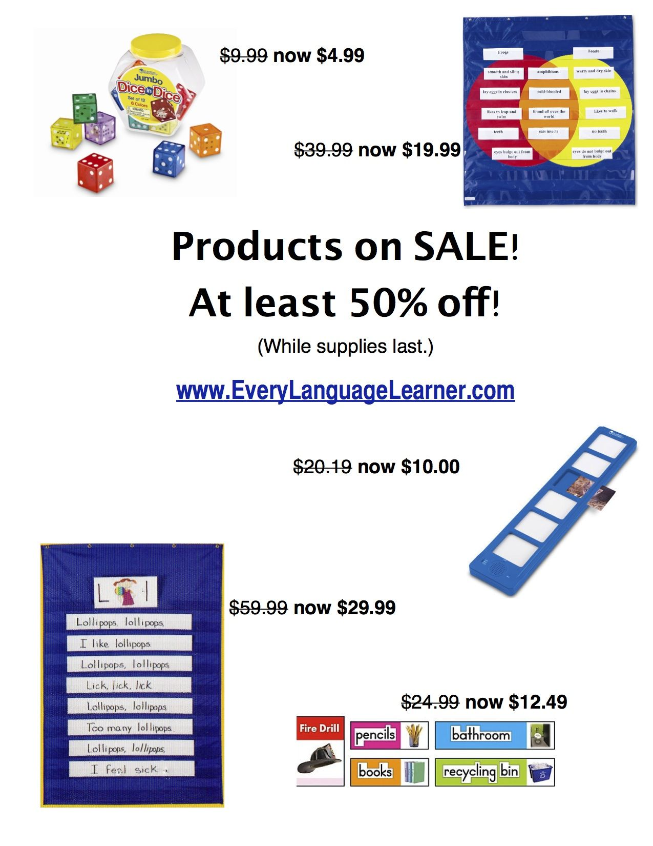 Esl Teaching Materials Sale Everylanguagelearner