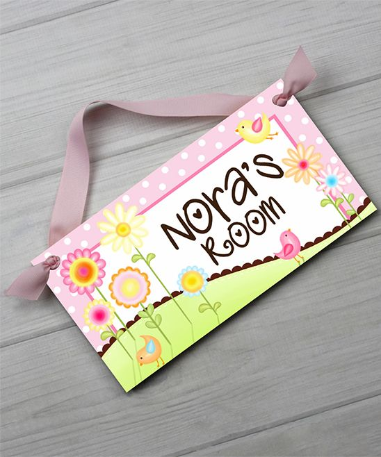 Sweet Meadow Personalized Door Sign Door signs and Products