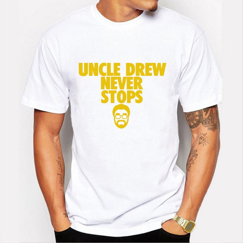 newest 0a813 9fbd1 2016 New novelty Kyrie Irving t shirt men's uncle Drew ...