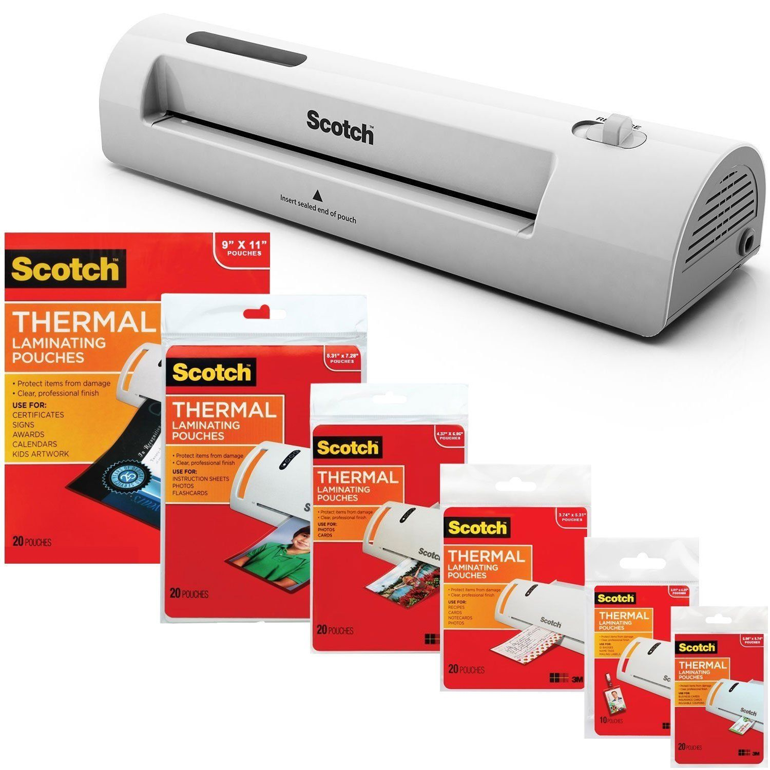 3M Laminator Kit With Every Size Laminating Pouch | Presentation ...