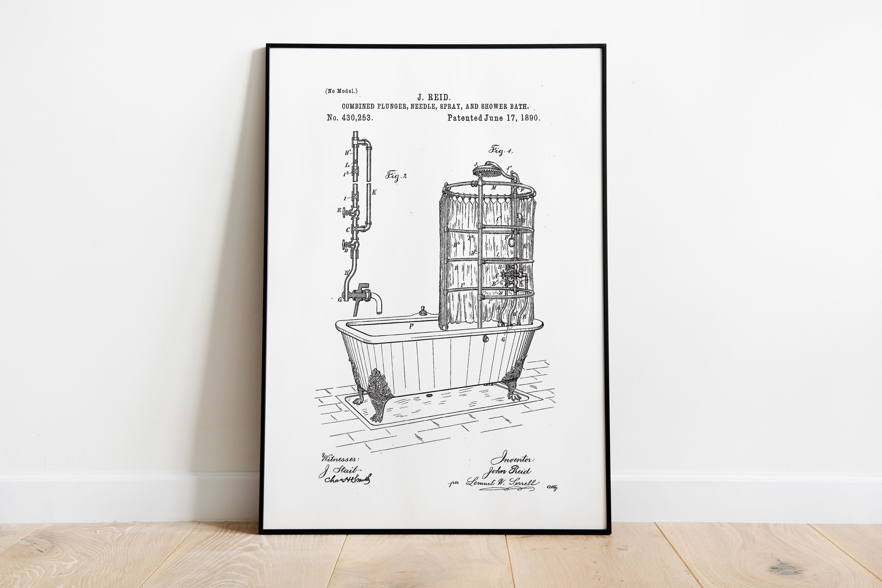 Patent Prints Bathroom Patent Prints Vintage Bath Tub Patent Patent Art Patent Poster Bathroom Patent Art Bathroom Wall Decor Bath Art Wall Decor Bath Vintage Bathtub Room Wall Decor