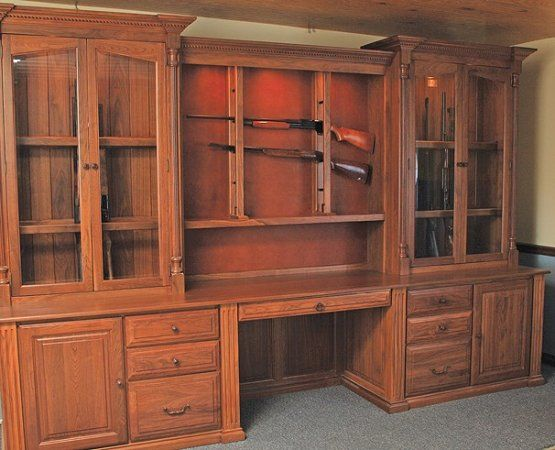 built in gun cabinet would total put this is office mancave