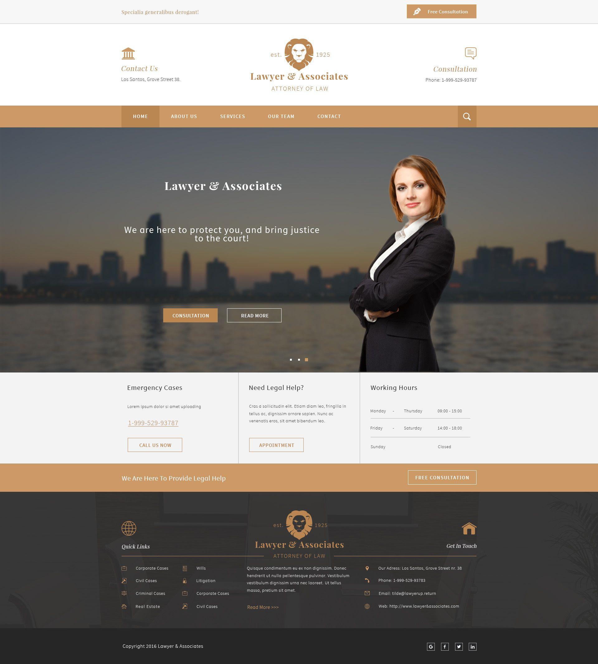 Lawyer Associates Attorney Law Company Psd Psd Law Firm Attorney Download Ht Lawyer Website Design Business Website Design Law Firm Website Design