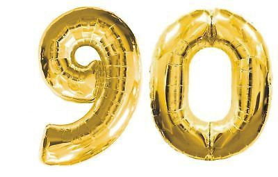 Giant 40 Inch 90 Balloon Number Gold Silver Birthday