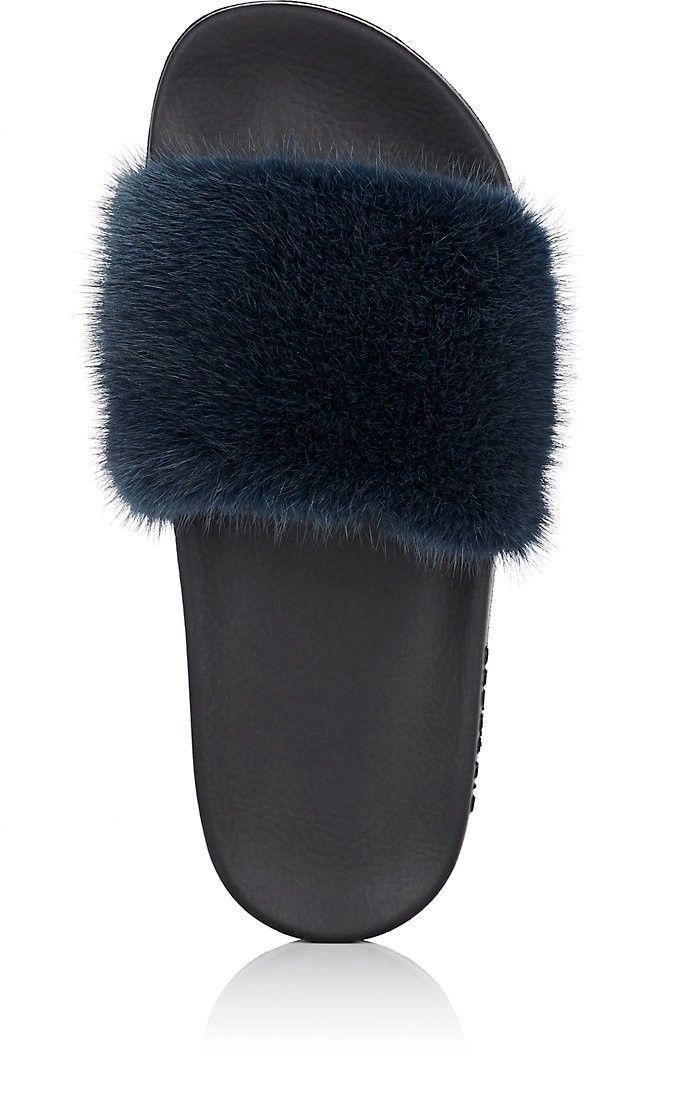 643b7501369 Givenchy Women s Mink Fur Slide Sandals - 5 Teal