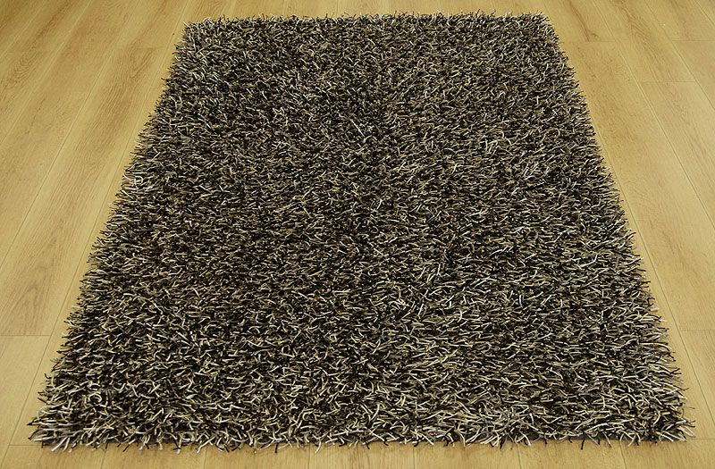 Crystal Mix Black Cream And Steel: Funky Rugs UK   Modern, Designer,  Contemporary