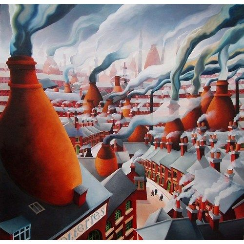 Vanished Landscape of the Potteries by Vicky Mount @ Mini Gallery - Oil Painting