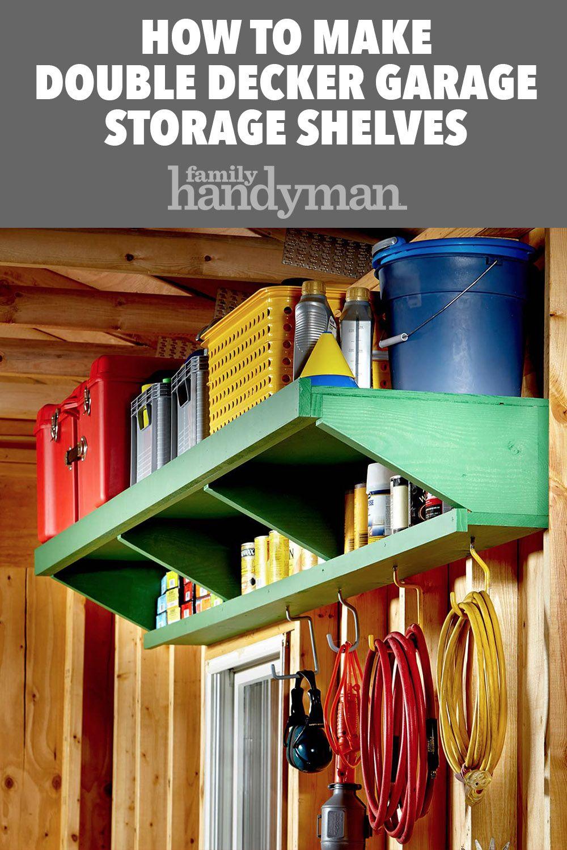 How to Make Double Decker Garage Storage Shelves
