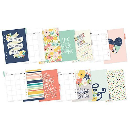 Simple Stories Carpe Diem Posh A5 Monthly Inserts Simple Stories Planner Stationery Planner Inserts