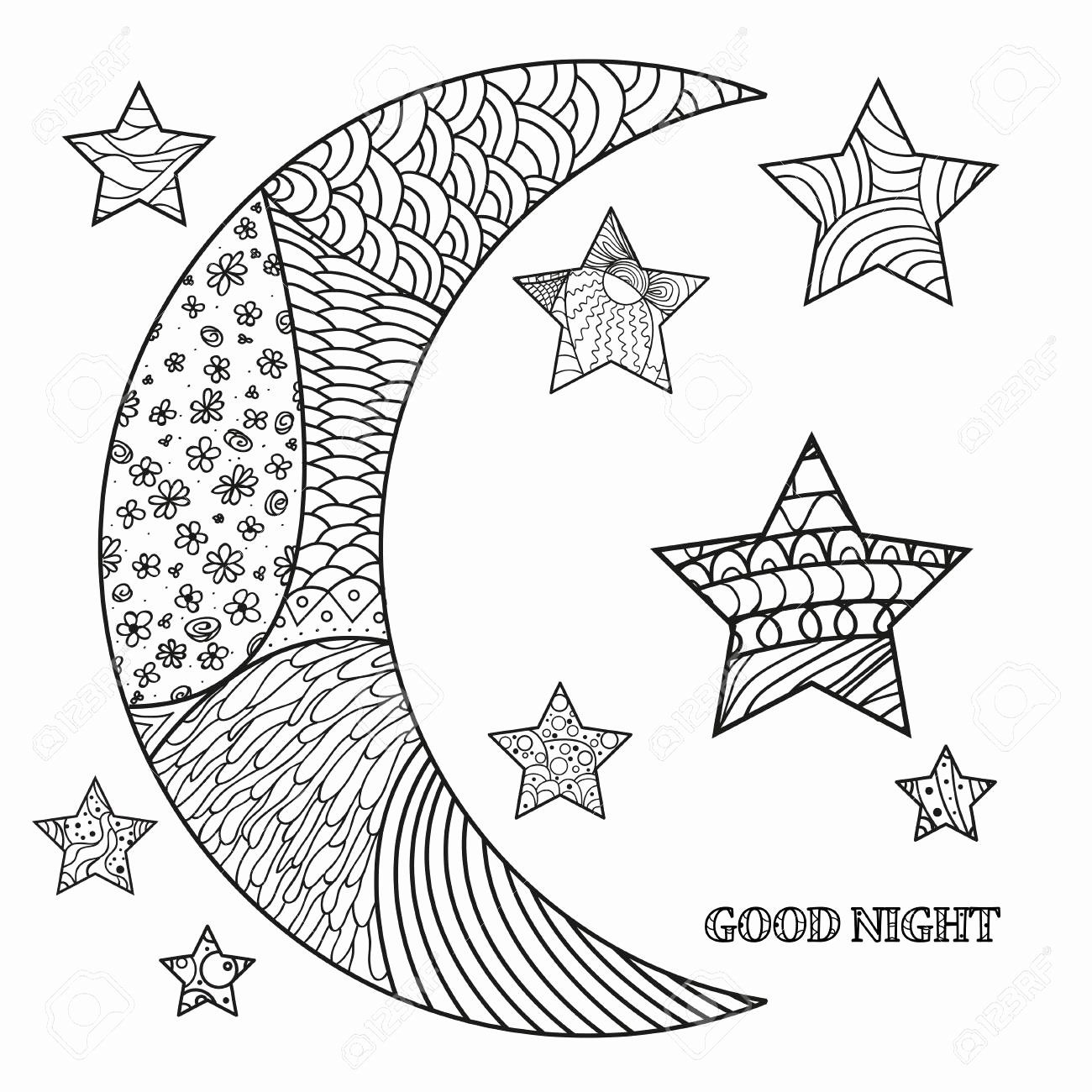 Starry Sky Coloring Pages Coloring Books Adult Coloring Pages