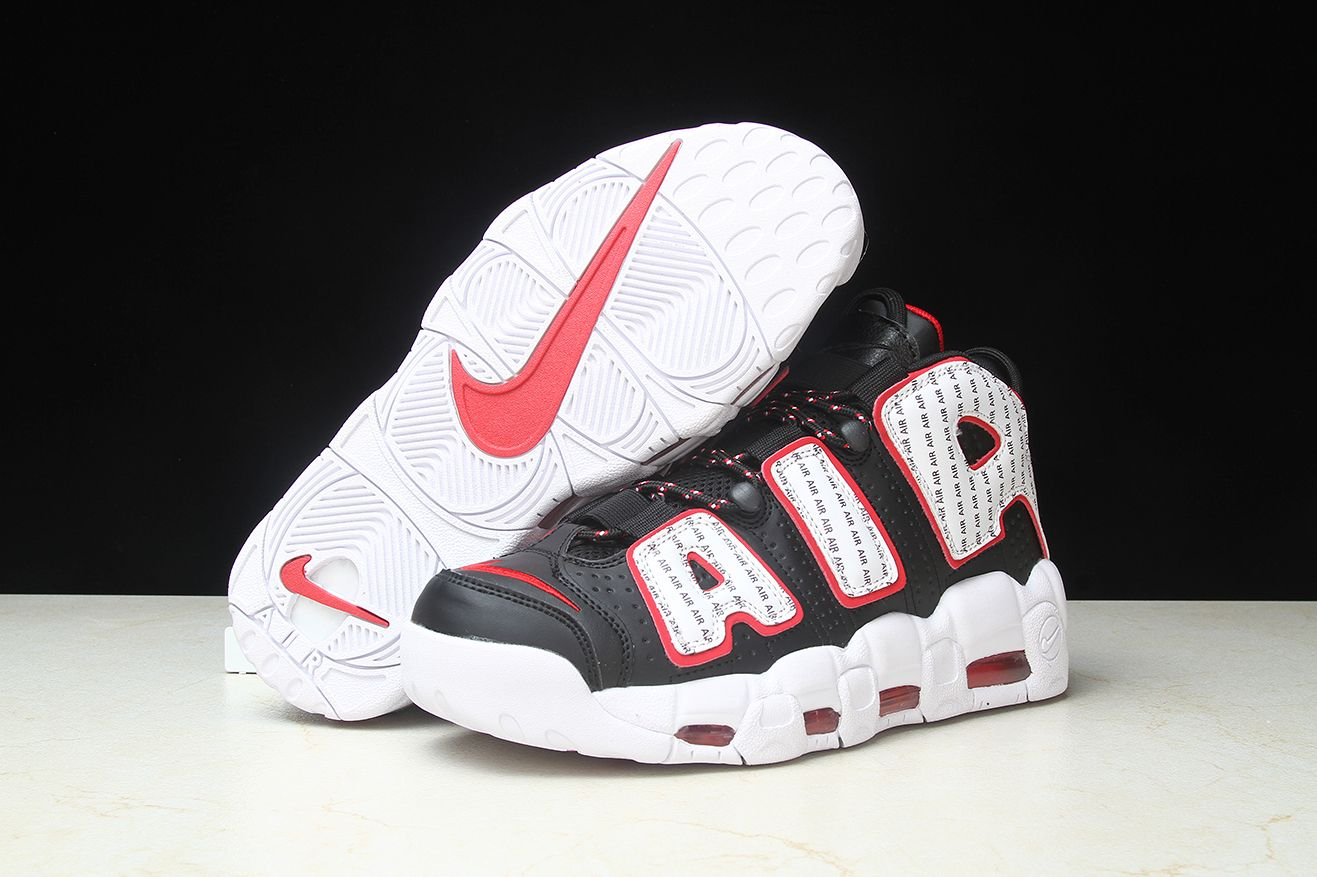 "2018 Nike Air More Uptempo ""Pinstripe"" AV7947-001   Nike Air More ... e37e281385ff"