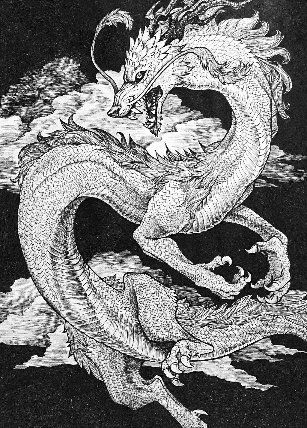 Красивые японские драконы картинки