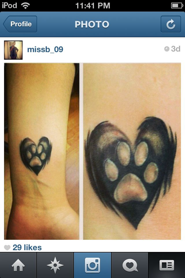 Your Paws Left Prints On My Heart In Memory Of The Dogs I Ve Lost And The Love I Have For My Dogs Now Dog Tattoos Tattoos Paw Tattoo