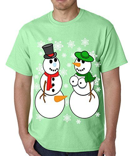 Mr. and Mrs. Perverted Snowman Ugly Christmas Sweater MENS T-SHIRT ...