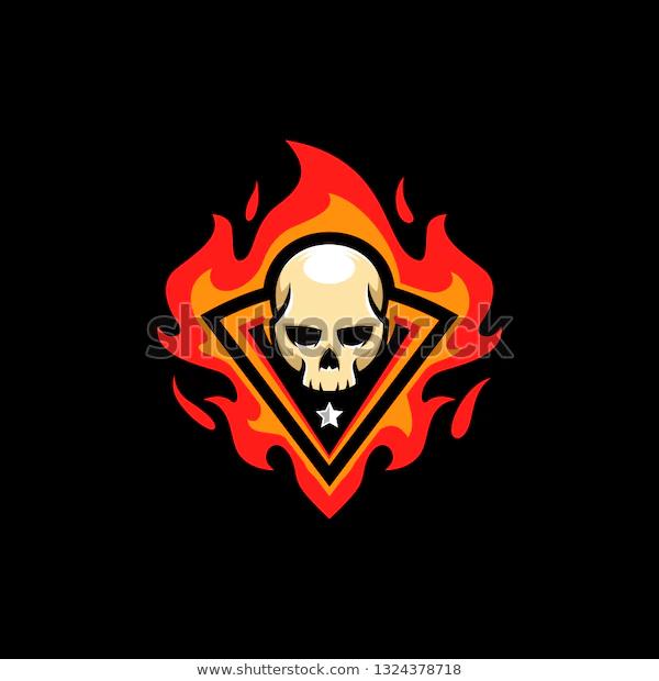 Skull Fire Illustration Vector Template Suitable Stock Vector Royalty Free 1324378718 Skull Fire Illustration Stock Vector