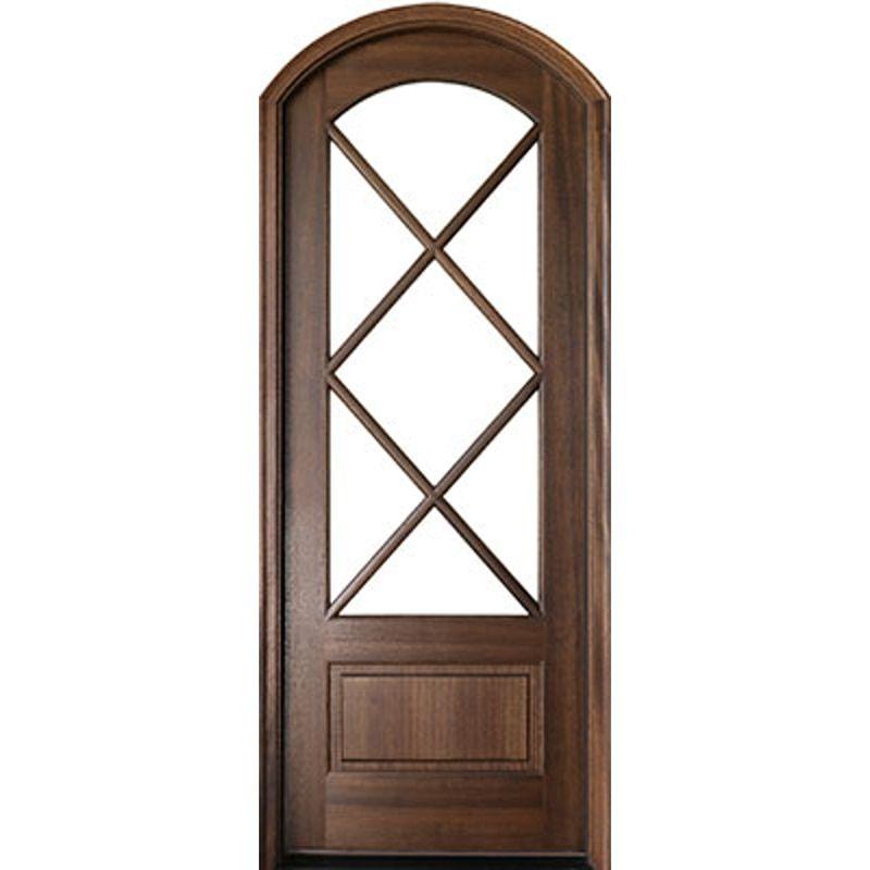 Miranda 7 Lite Arch Top Single Entry Door Single Entry Doors Entry Doors Arched Front Door