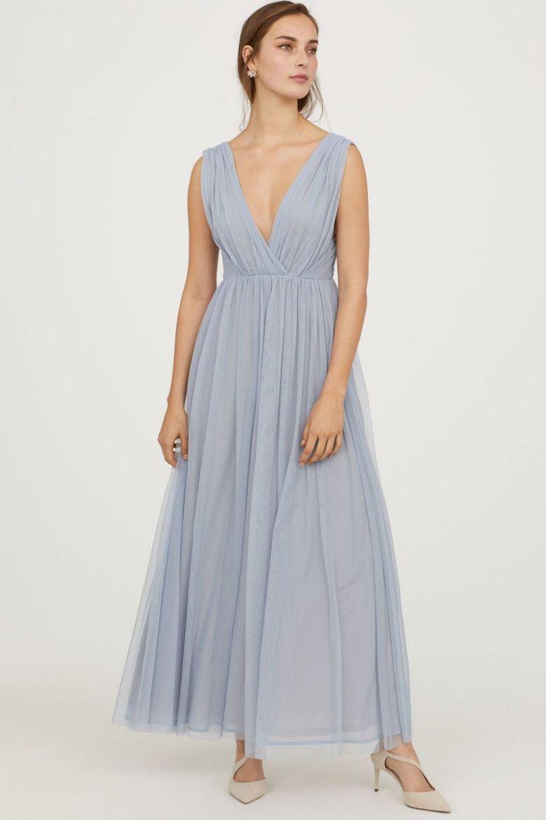 10 Langes Kleid Hellblau in 10  Abendkleid, Glamouröse