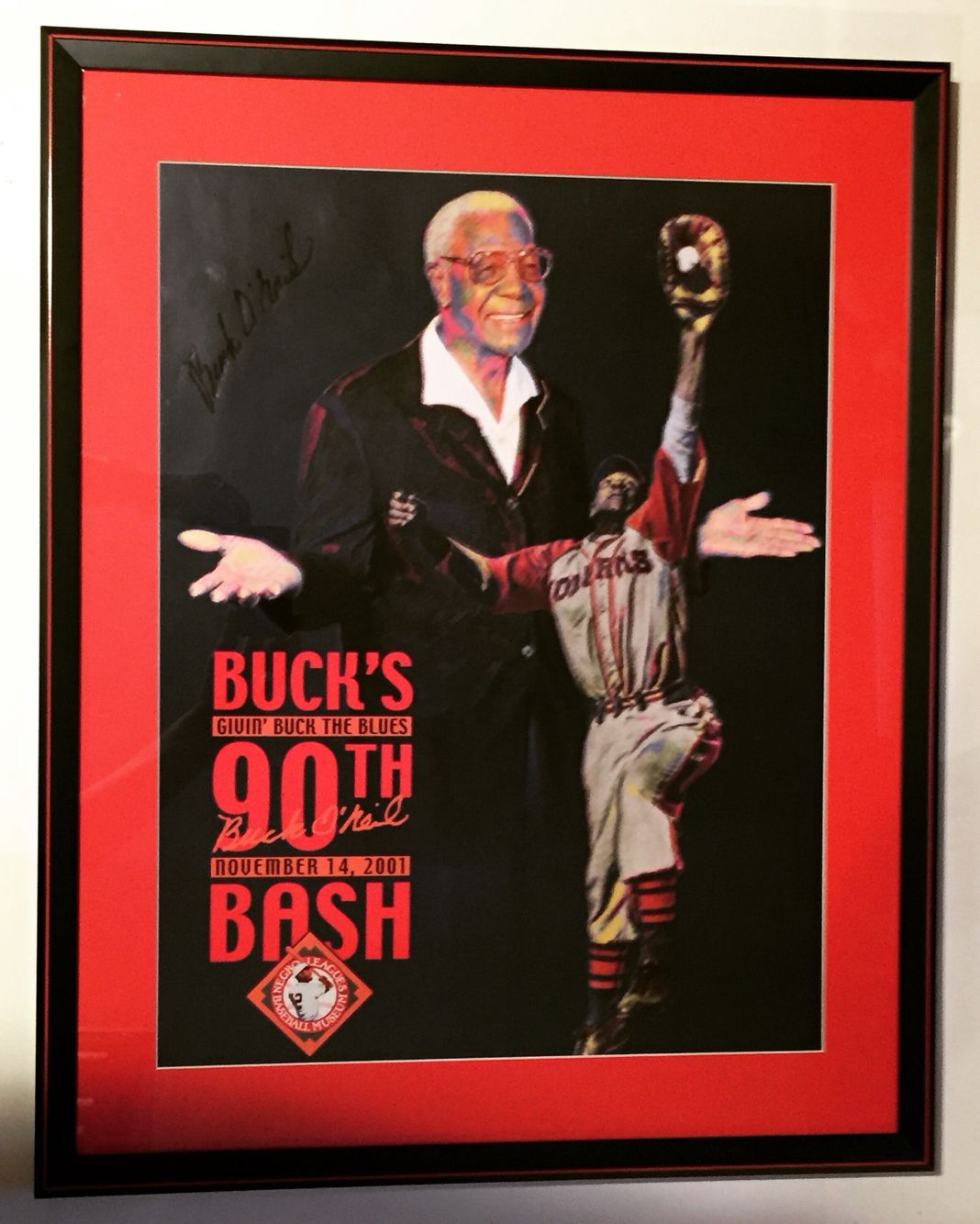 Absolutely loved matting and framing this autographed poster of Kansas City legend and baseball ambassador, Buck O'Neil.